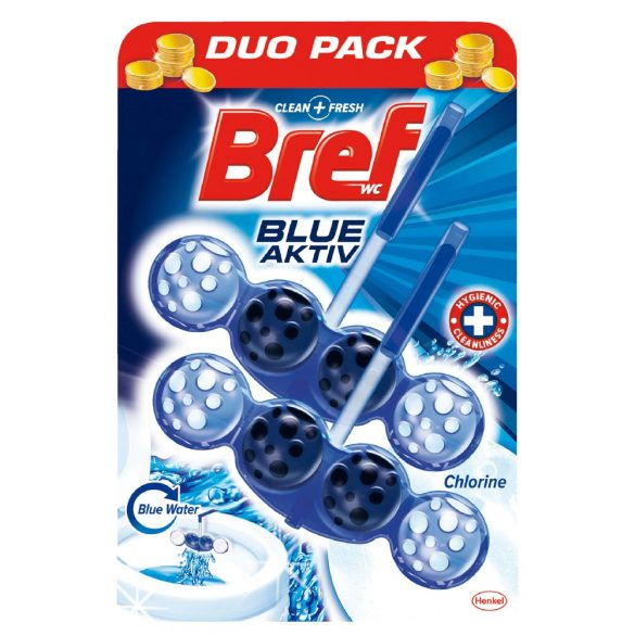 Bref Blue Aktiv wc illatosító,  2 x 50 g