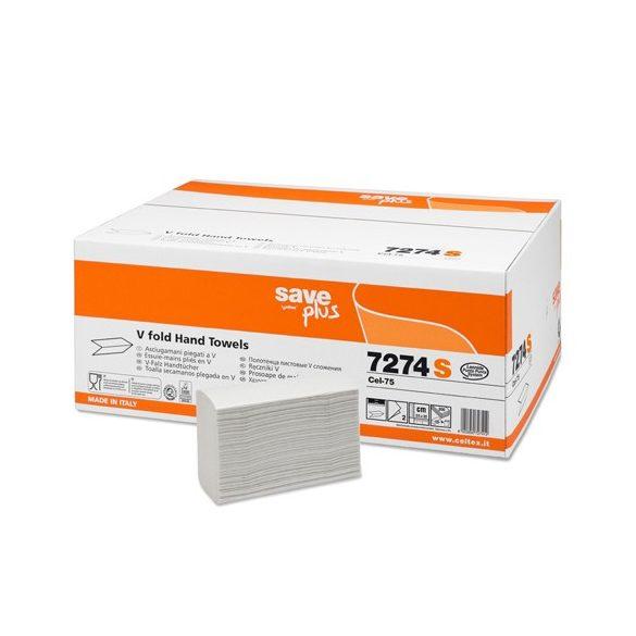 CELTEX - Hajtogatott kéztörlő papír 7274S (2 rétegű/25x22 cm/3000 lap)