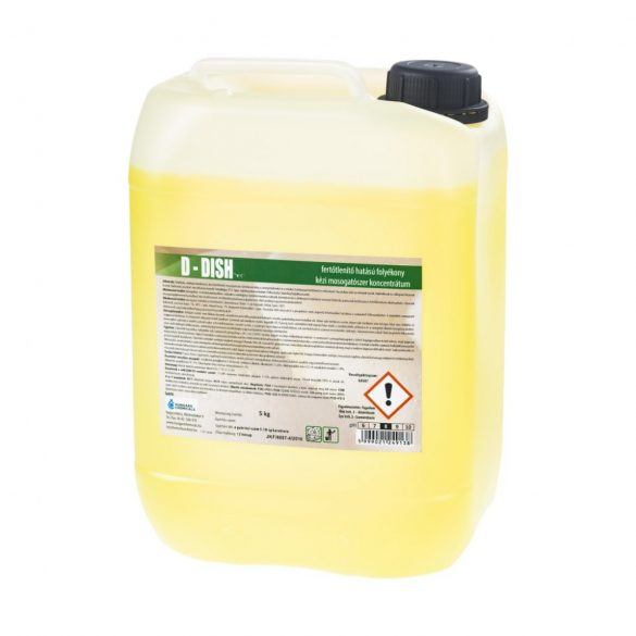 D-Dish fertőtlenítő hatású kétfázisú kézi baktericid, fungicid, virucid hatású mosogatószer 5 kg