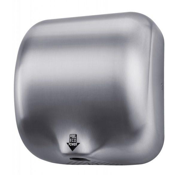 Kézszárító, rozsdamentes acél, matt, 1800 W