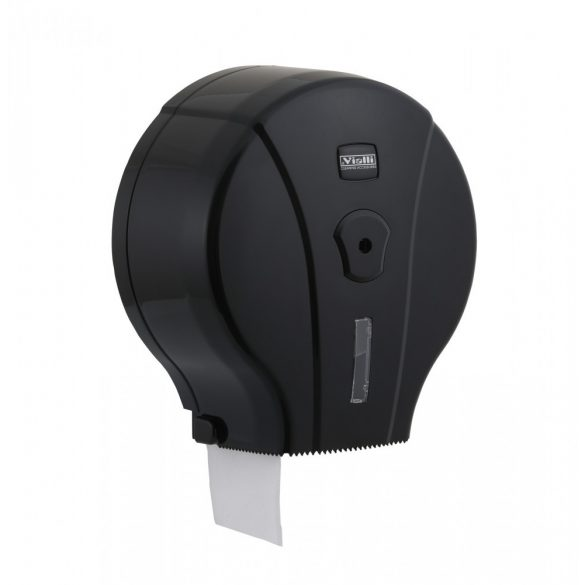 Vialli Mini toalettpapír adagoló ABS műanyag, fekete